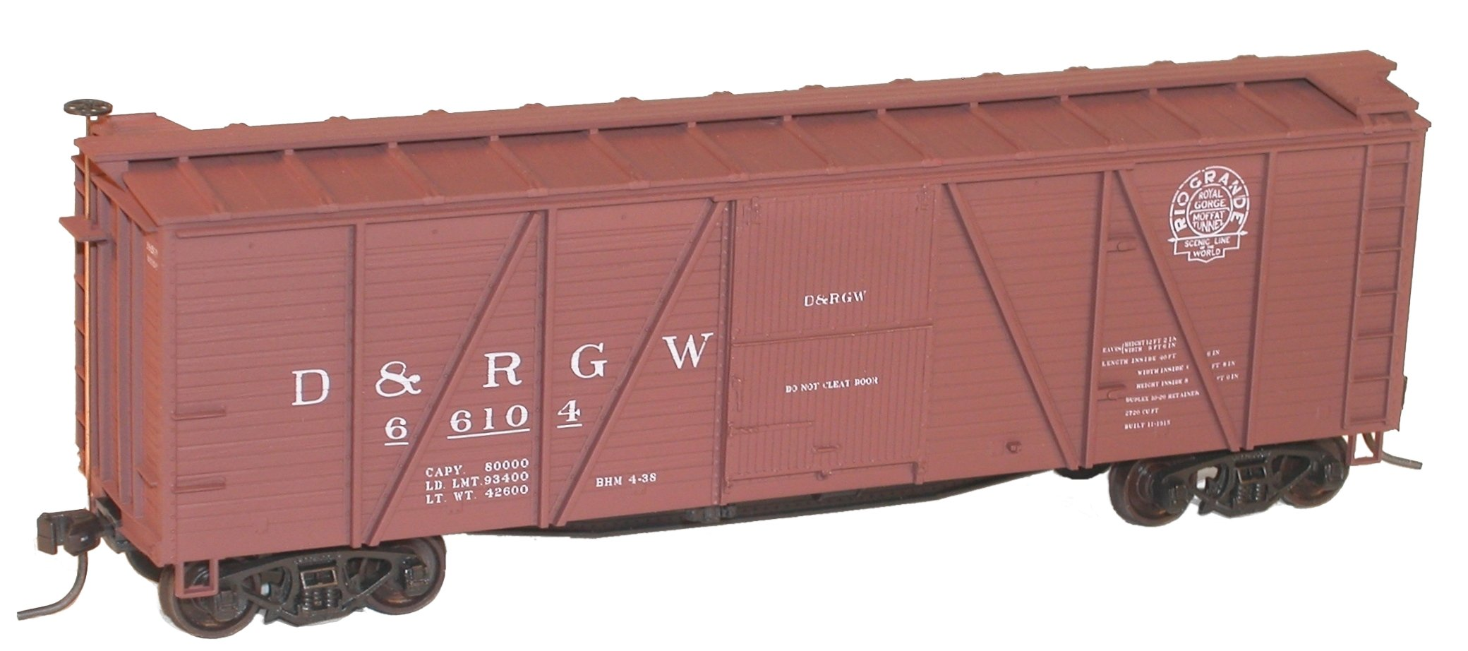 Car With Road >> Welcome to Digital Fox - Denver & Rio Grande Western 40' Double Sheath Wood Boxcars